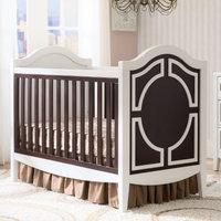 Delta Enterprise Corp Simmons Kids Hollywood 3-in-1 Convertible Crib Dark Chocolate / White