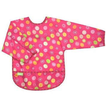 Kushies Taffeta Waterproof Bibs with Sleeves, Cupcake, Infant