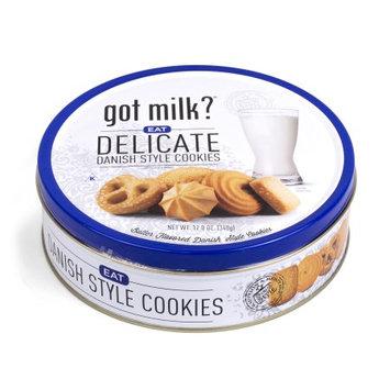 Got Snacks Llc. Got Milk? Classic Danish Butter Cookies in Tin (Kosher)