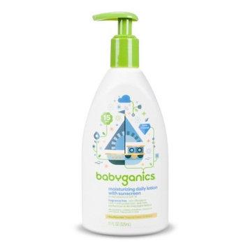 Babyganics Moisturizing Daily lotion with sunscreen broad spectrum SPF 15 Fragrance Free -11oz
