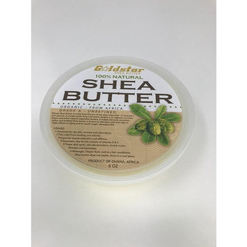 Goldstar Grade A 100% Natural Raw Unrefined Organic Shea Butter Ivory (8 OZ)