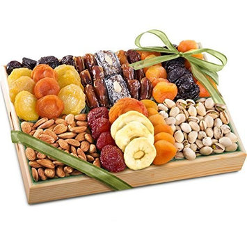 Golden State Fruit Pacific Coast Deluxe Dried Fruit Tray with Nuts Gift [Dried Fruit & Nuts]