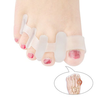 Welnove-Gel Toe Separator&Stretcher for Feet Relief, Relaxeing Toes, Bunion Fight and Hammer Toes Straightener to Men and Women - 1 Pairs White
