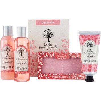 Generic Exotic Pomegranate Bath Gift Set, 6 pc