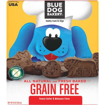 Blue Dog Bakery Grain Free, Peanut Butter & Molasses, 16 oz