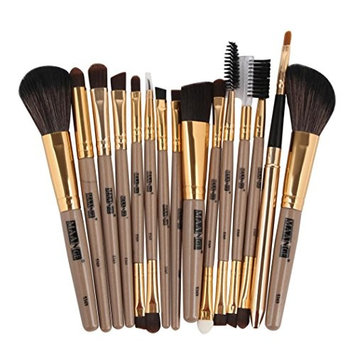 Doinshop 15pcs Makeup Brushes Set MAANGE Foundation Eyebrow Eyeliner Blush Cosmetic Concealer Brushes