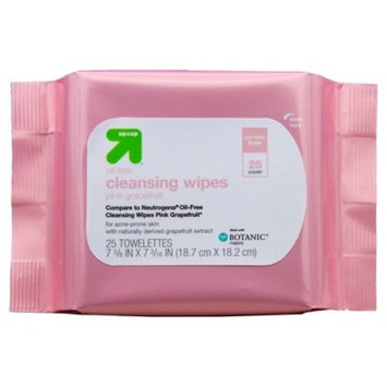 Grapefruit Facial Wipes 25ct - Up&Up™ (Compare to Neutrogena Oil-Free Cleansing Wipes Pink Grapefruit)