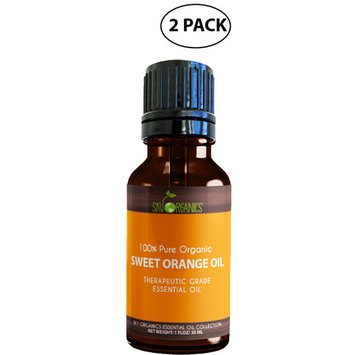Best Orange Essential Oil By Sky Organics-100% Pure Therapeutic Grade Organic Sweet Orange Oil For Diffuser, Aromatherapy, Massage Oil, Stress and Detox –For Candles and DIY -1oz.(2 Pack)