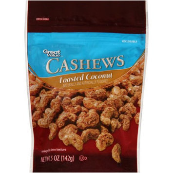 Wal-mart Stores, Inc. Great Value Toasted Coconut Cashews, 5 oz