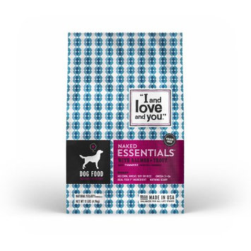 I and Love and You Kibble Naked Essentials with Salmon & Trout Dog Food - 11.0 lb