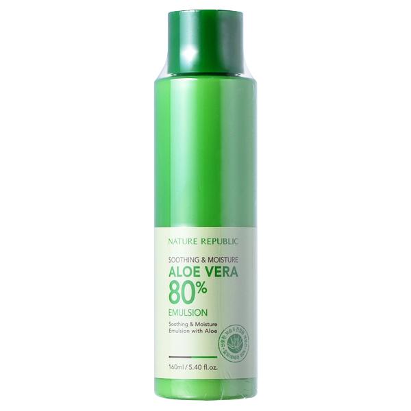Nature Republic - Soothing & Moisture Aloe Vera 80% Emulsion 160ml/5.4oz