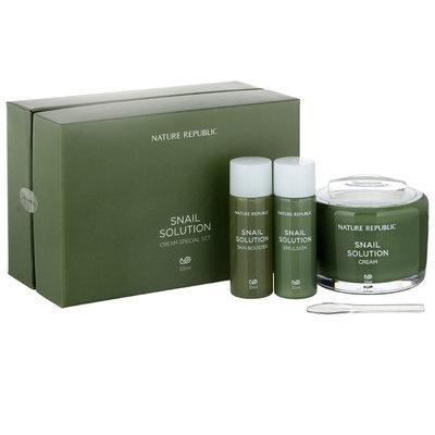 Nature Republic - Snail Solution 70 Cream Special Set (3 items): Cream + Booster + Emulsion 3 pcs