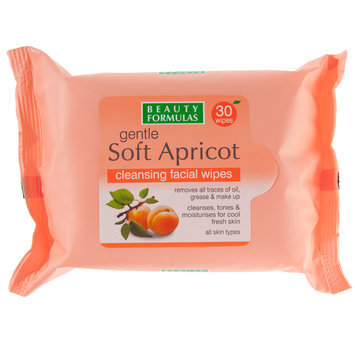 Beauty Formulas - Gentle Soft Apricot Cleansing Facial Wipes 30 wipes