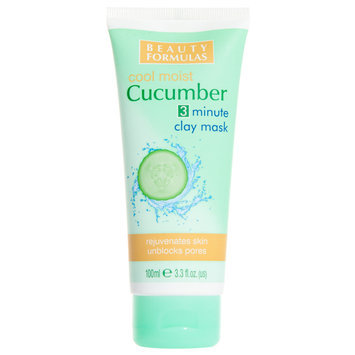 Beauty Formulas - Cool Moist Cucumber 3 Minute Clay Maks 100ml/3.3oz