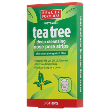 Beauty Formulas - Tea Tree Deep Cleansing Nose Pore Strips 6 strips