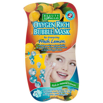 Beauty Formulas - Fresh Lemon Oxygen Rich Bubble Mask (Re-energising) 2 pcs