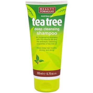 Beauty Formulas - Tea Tree Deep Cleansing Shampoo 200ml/6.75oz