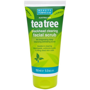 Beauty Formulas - Tea Tree Blackhead Clearing Facial Scrub 150ml/5oz