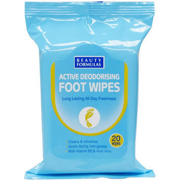 Beauty Formulas - Active Deodorising Foot Wipes 20 wipes