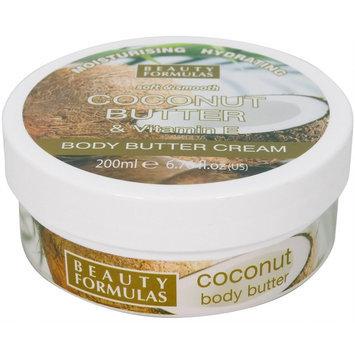 Beauty Formulas - Coconut Butter and Vitamin E Body Butter Cream 200ml/6.76oz