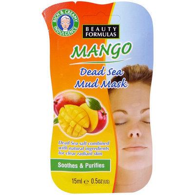 Beauty Formulas - Mango Dead Sea Mud Mask 15ml/0.5oz