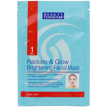Beauty Formulas - Radiate and Glow Brightening Facial Mask 1 pc