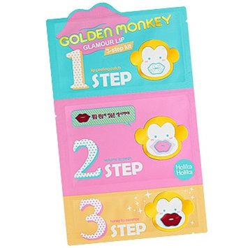 Holika Holika - Golden Monkey Glamour Lip 3-Step Kit 4 pcs