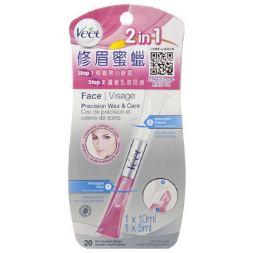 Veet - Face Precision Wax and Care 1 pc