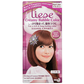 Kao - Liese Creamy Bubble Hair Color (Jewel Pink) 1 set