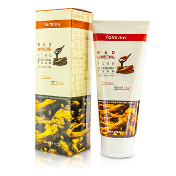 Farm Stay - Pure Cleansing Foam - Red Ginseng 180ml/6.09oz