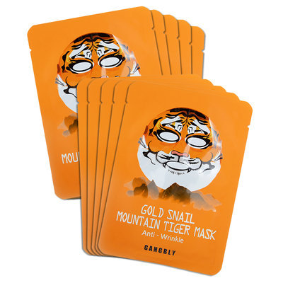 Gangbly - Gold Snail Mountain Tiger Mask (Anti-Wrinkle) 10 sheets