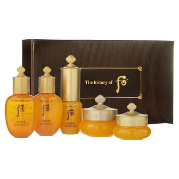 The History of Whoo - Gongjinhyang Specital Gift (5 items): Balancer 20ml + Lotion 20ml + Essence 10ml + Cream 10ml + Eye Cream 4ml 5 pcs