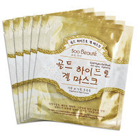 Soo Beaut - Gold Hydro Gel Mask (Anti-aging, Hydrating) 5 pcs