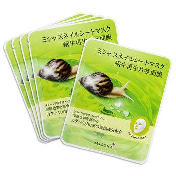 Missha - Healing Snail 3D Sheet Mask 5 sheets