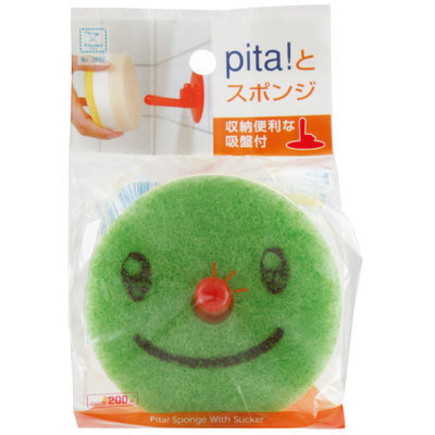 Kokubo - Sponge with Suction Cup (Random Color) 1 pc