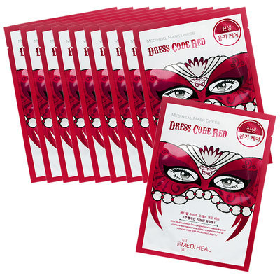 Mediheal Dress Code Mask - Red (Ginseng - Gloss Care) 10pcs