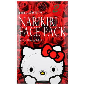 Sanrio - Narikiri Face Pack Facial Beauty Mask (Hello Kitty) (Rose) 2 pcs