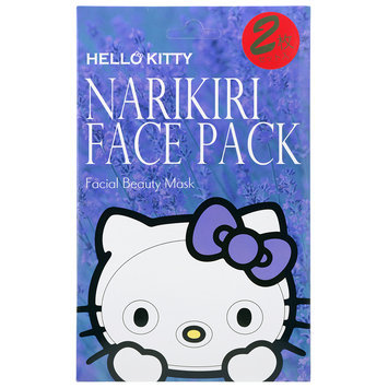 Sanrio - Narikiri Face Pack Facial Beauty Mask (Hello Kitty) (Lavender) 2 pcs