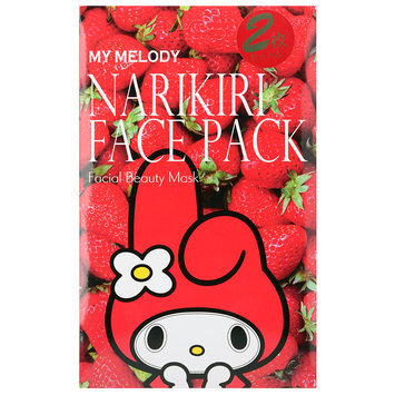 Sanrio - Narikiri Face Pack Facial Beauty Mask (My Melody) (Strawberry) 2 pcs