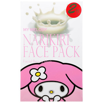 Sanrio - Narikiri Face Pack Facial Beauty Mask (My Melody) (Milk Essence) 2 pcs