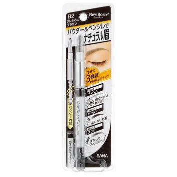 Sana New Born Eyebrow Mascara And Pencil Grayish Brown