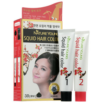 Nature Young - Squid Hair Color #3B Dark Brown 1 set