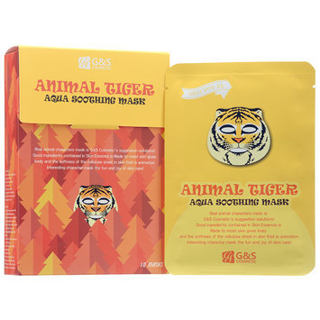 G & S Cosmetic - Animal Tiger Aqua Soothing Mask 10 sheets