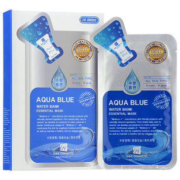 G & S Cosmetic - Aqua Blue Water Bank Essential Mask 10 sheets