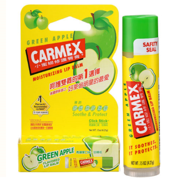Carmex® Moisturizing Lip Balm Click Stick (Green Apple)