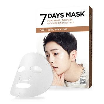 forencos - 7 Days Mask Mayu Elastic Silk Mask (Saturday) 10 pcs