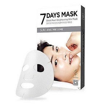 forencos - 7 Days Mask Black Pearl Brightening Silk Mask (Sunday) 10 pcs