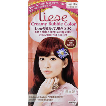 Kao - Liese Creamy Bubble Color (Maple Red) 1 set