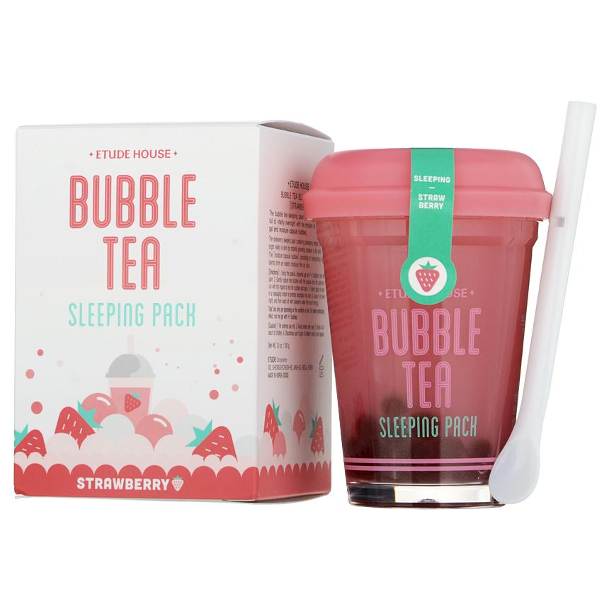 Etude House - Bubble Tea Sleeping Pack (Strawberry) 100g/3.5oz