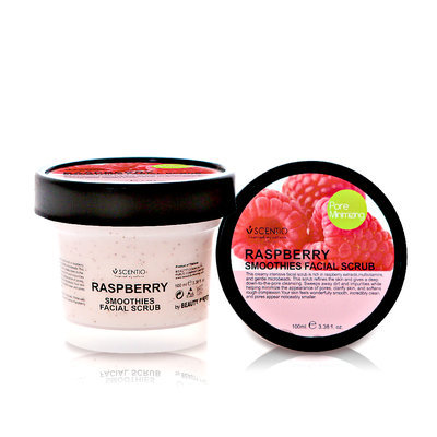 SCENTIO - Raspberry Smoothies Facial Scrub 100ml